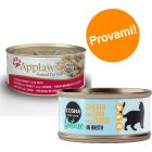 Set prova misto 24 x 70 g Applaws in Brodo + 6 x 70 g Cosma Nature