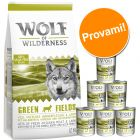 Set prova misto! Wolf of Wilderness Adult secco + umido