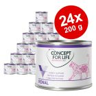 Set risparmio! Concept for Life Veterinary Diet 24 x 200 g/185 g