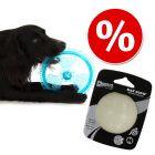 Set Chuckit! Palla gioco Max Glo Glow + Frisbee in TPR con LED