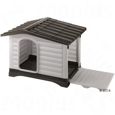 Set Ferplast Cuccia per cani Dogvilla + Cuscino  Jolly marrone