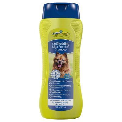 Set FURminator: deshedding Shampoo + Bathing Brush