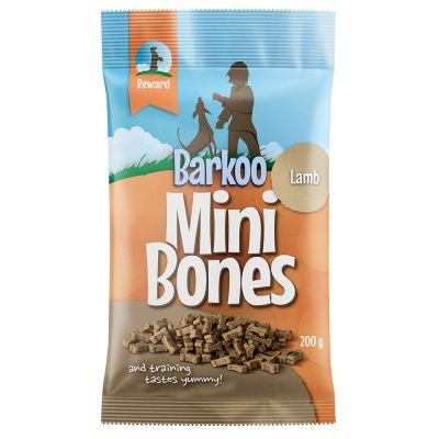 Set 200g Barkoo Mini Bones semiumido  + Portacrocchette Wolf of Wilderness