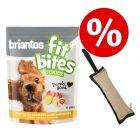 "Set 150 g Briantos ""FitBites"" Junior Pollame con Patate & Fragole + Dummy"
