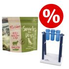 Set 100 g Purizon Snack Agnello & Pesce senza cereali + Trixie Turn Around