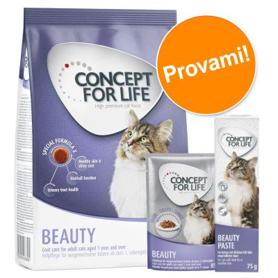 Set prova misto! Concept for Life Beauty secco + umido + snack