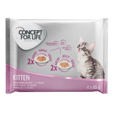 Set prova misto! 400 g Concept for Life + 4 x 85 g assortito