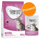 Set prova misto! 400 g + 12 x 85 g Concept for Life Kitten