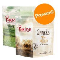 Set prova misto! Purizon Snack per gatti - senza cereali 2 x 40 g