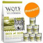 Set prova misto! Wolf of Wilderness Adult secco + umido