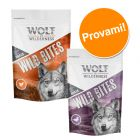 Set prova misto! Wolf of Wilderness Snack - Wild Bites 2 x 180 g