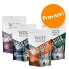 Set prova misto! Wolf of Wilderness Snack - Wild Bites 4 x 180 g