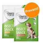 Set prova misto! 2 x 100 g Concept for Life Insect Snack per cani
