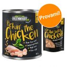 Set prova misto! 6 x 800 g Greenwoods Adult Pollo + 100 g Nuggets Pollo