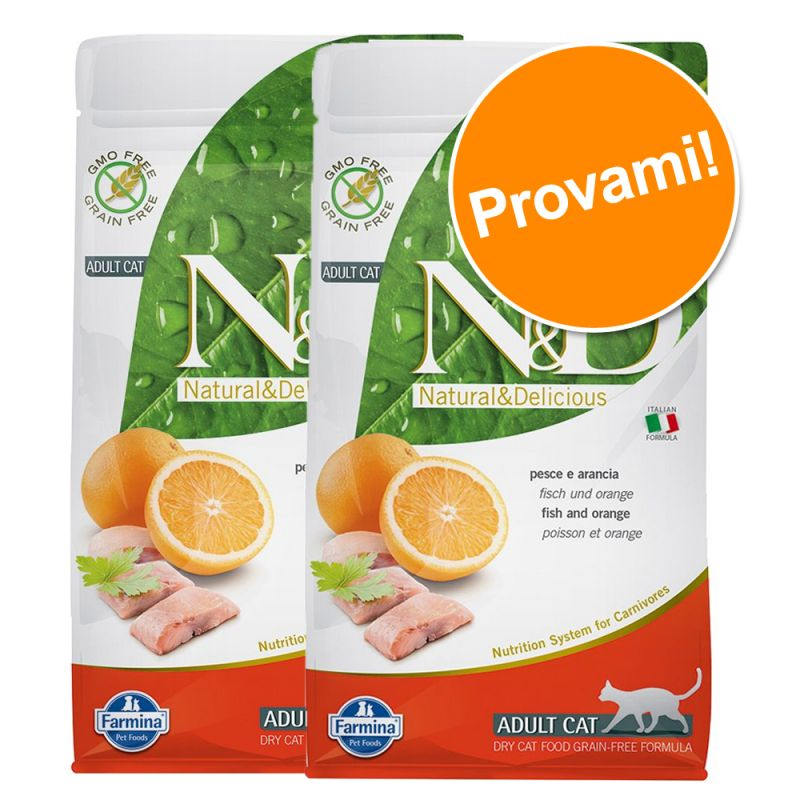 Set prova misto! 2 x 1,5 kg Farmina N&D Grain Free Adult