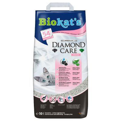 Set prova misto! 2 x 10 l Lettiera Biokat's Diamond Care