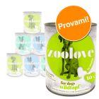 Set prova! zoolove Alimento umido per cani 6 x 800 g