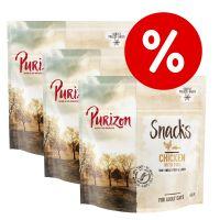 Set Risparmio! Purizon Snack per gatti - senza cereali 3 x 40 g