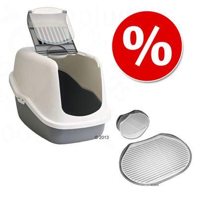Set risparmio Toilette Savic Nestor + Tappetino Soft Touch Track Mat prezzi bassi | zooplus