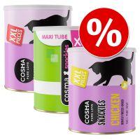 Set Risparmio! 3 x Cosma Snackies XXL Maxi Tube Snack per gatti