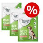 Set risparmio! 3 x 100 g Concept for Life Insect Snack per cani