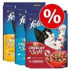 Set risparmio! 3 x 950 g Felix Crunchy & Soft