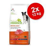 Set risparmio! 2 x 12 kg Natural Trainer Medium & Maxi