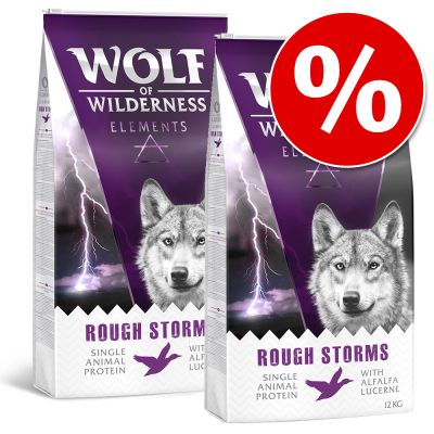 Set Risparmio! 2 x 12 kg Wolf of Wilderness Elements
