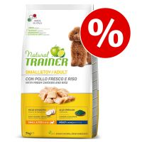 Set risparmio! 2 x 7 kg / 3 x 2 kg Natural Trainer Small & Toy