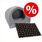 Set till sparpris: Hund-igloo + Vetbed® Isobed SL Paw hundfilt
