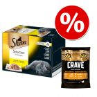 Sheba tacki, 48 x 85 g + Crave Adult, 750 g w super cenie!