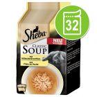 Sheba Classic Soup Pouches -säästöpakkaus 32 x 40 g