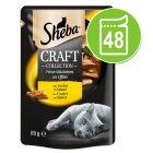 Sheba Craft Collection 48 x 85 g en sobres comida húmeda para gatos