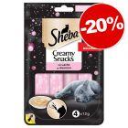 Sheba Creamy Snacks pour chat 4 ou 18 x 12 g : 20 % de remise !