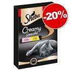 Sheba Creamy Snacks pour chat 4 / 9 / 18 x 12 g : 20 % de remise !