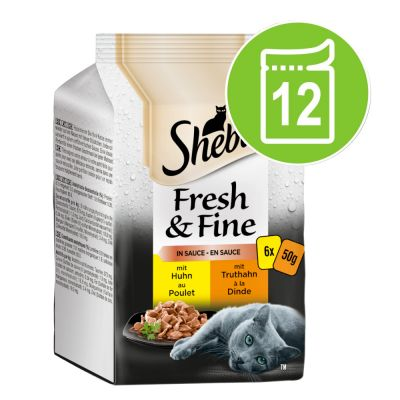 Sheba Fresh Choice in Gravy Mini Pouches Saver Pack 12 x 50g