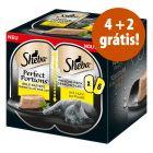 Sheba Perfect Portions comida húmida 6 x 37,5 g em promoção: 4 + 2 grátis!