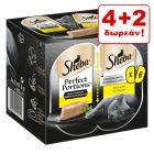 4 + 2 Δώρο! Sheba Perfect Portions 6 x 37,5 g