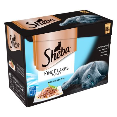 Sheba Pouches Fine Flakes Saver Pack 96 x 85g
