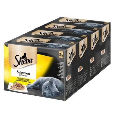 Sheba Pouches Select Slices in Gravy Saver Pack 96 x 85g