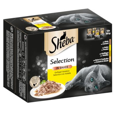 Sheba Select Slices Pouches Mixed Pack 12 x 85g