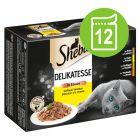 Sheba Selection i saus eller gelè 12 x 85 g porsjonsposer
