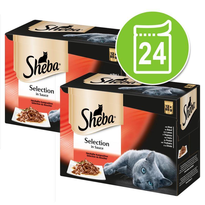Sheba Selection in Sauce Pouches -säästöpakkaus 24 x 85 g