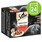 Экономупаковка Sheba Selection в соусе или желе 24 x 85 г