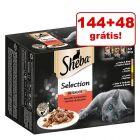 Sheba Variedades em saquetas 192 x 85 g em promoção: 144 + 48 grátis!