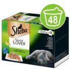 Sheba-rasialajitelma säästöpakkauksessa 48 x 85 g
