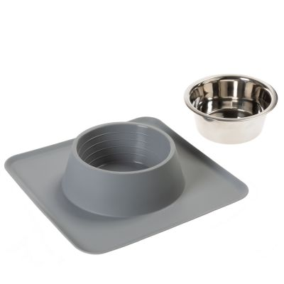Silicone Placemat with Stainless Steel Bowl