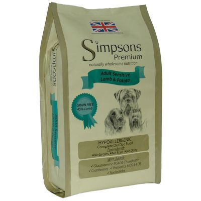 Simpsons Premium Sensitive Adult - Lam & Aardappel Hondenvoer