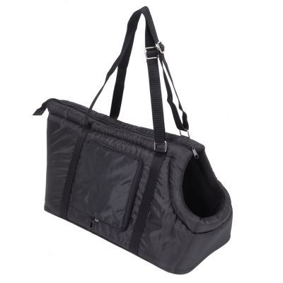 Sleek Nylon Travel Bag - Black