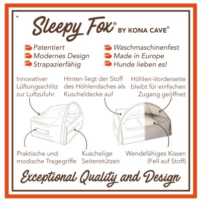 Sleepy Fox® -koiranmaja, ruskea